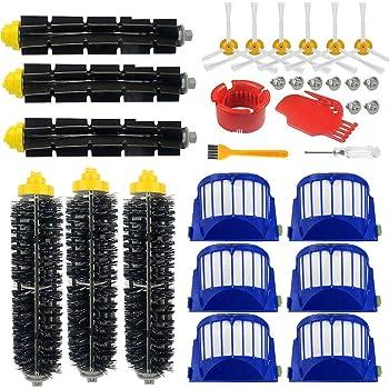 efluky rempla/çant Brosse Kit Pi/èces accessoires pour iRobot Roomba 585 589 600 605 610 615 616 625 630 631 632 639 650 651 620 621 660 670 680 681 Series etc.