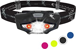 LED Headlamp Flashlight - 6 White and Red LED Head Lamp Modes - 1 Battery, Lightweight, IPX6 Waterproof - Super Bright Headlight for Camping, Running, Cycling, Hunting, Walking Dog, Home Projects