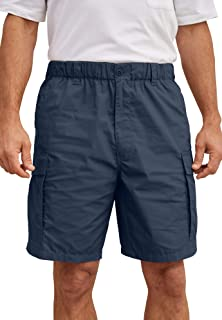 "KingSize Men's Big & Tall 8"" Moisture Wicking Cargo Shorts"