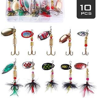 8g Spinner baits Fishing Lure kit 5 Packs Bass Trout Salmon Hard Metal Spinnerbaits AresKo Fishing Lures