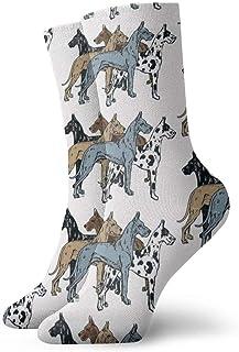 yting, Niños Niñas Locos Divertidos Gran Danés Colores Calcetines actualizados Calcetines lindos de vestir de novedad