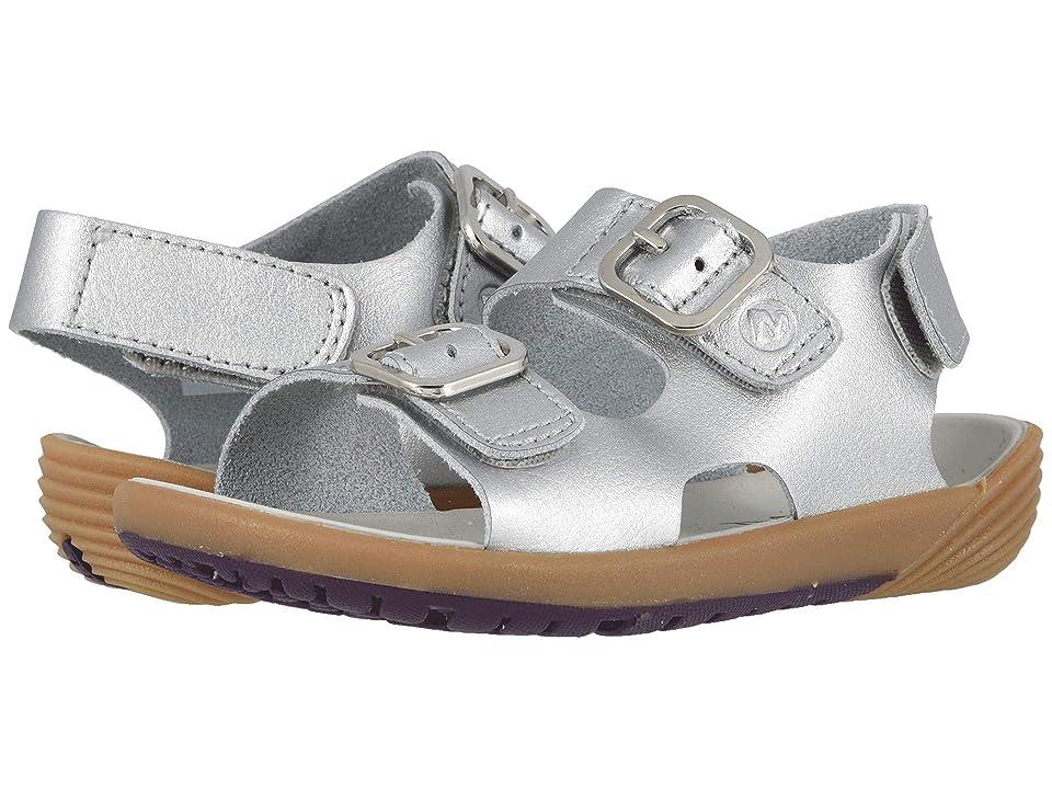 Merrell Kids Bare Steps Sandal (Toddler) (Silver) Girls Shoes