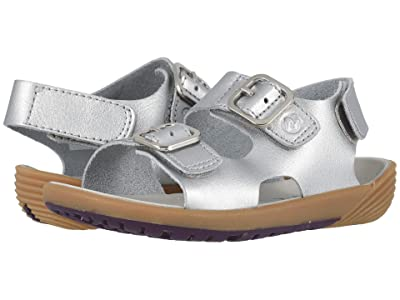 Merrell Kids Bare Steps Sandal (Toddler) (Silver) Girls Shoes