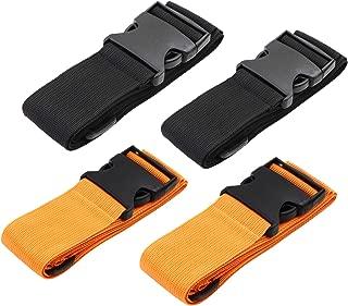 Luggage Straps Suitcase Belts Travel Accessories Bag Straps 2PACK /4PACK (Color Orange 4PACK)