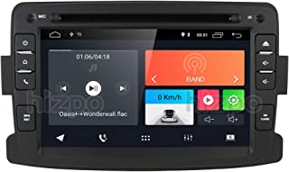 Android 9.0 Car Radio Stereo with Bluetooth GPS Navigation for Dacia Renault Dokker Duster Logan Sandero Dacia Renault 2012-2017, 1 Din 7 inch Touch Screen Car DVD Player SD USB MirrorLink