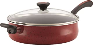 Paula Deen Riverbend Aluminum Nonstick Covered Jumbo Cooker with Helper Handle, 5-Quart, Red Speckle - 16995