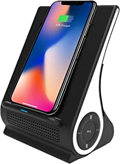 Azpen Dockall D101 QI Wireless Charging Sound Hub with Bluetooth Speaker (Black)