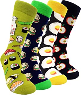 Funny Mens Colorful Dress Socks - HSELL Fun Novelty Patterned Crazy Design Socks