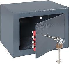 HMF 49216-11 Coffre-fort à poser, serrure à panneton double, 23,0 x 17,0 x 17,0 cm, anthracite