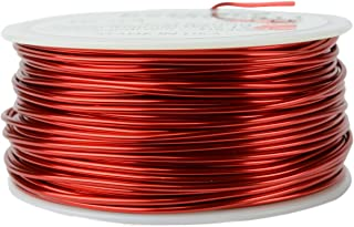 TEMCo 16 AWG Copper Magnet Wire - 1 lb 126 ft 155°C Magnetic Coil Red