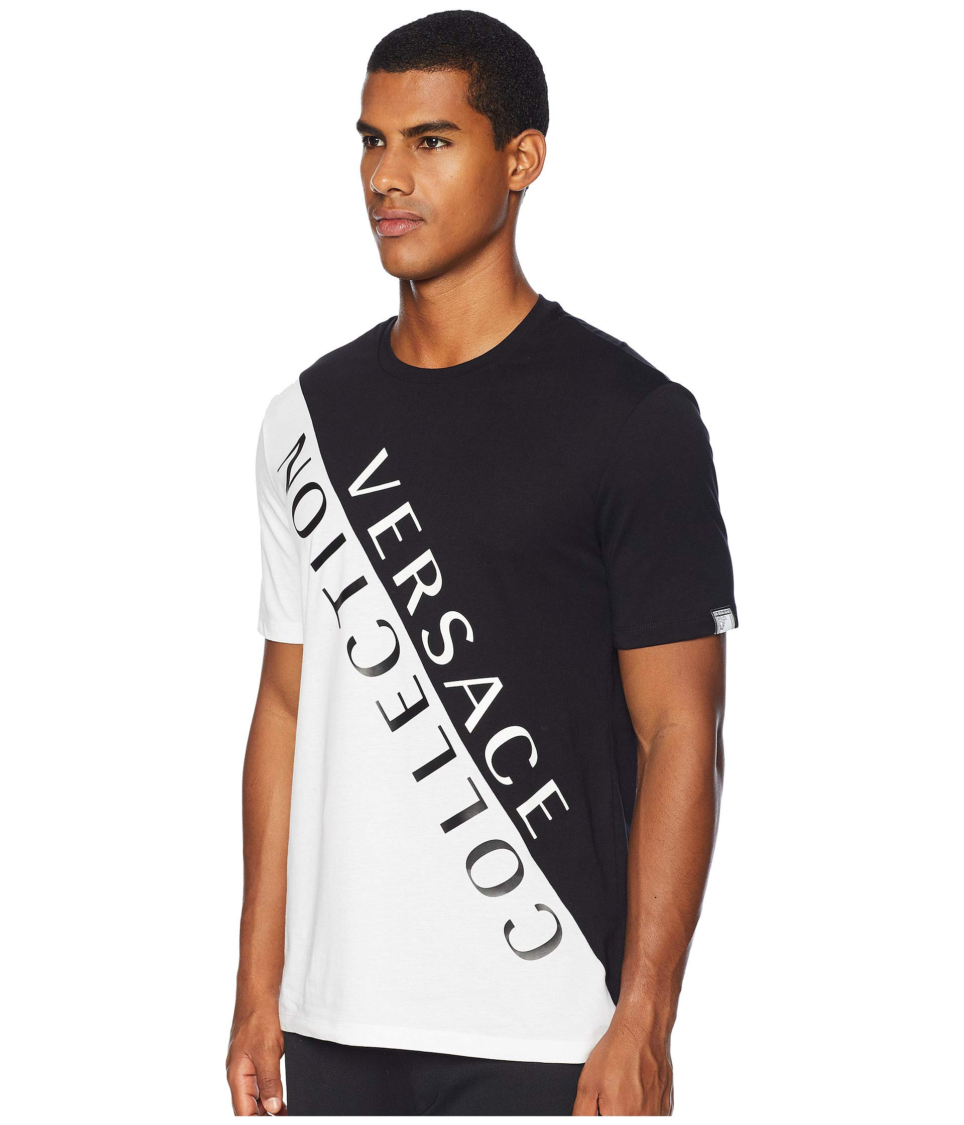 Black Versace Tee white Split Collection qRxvtzaO