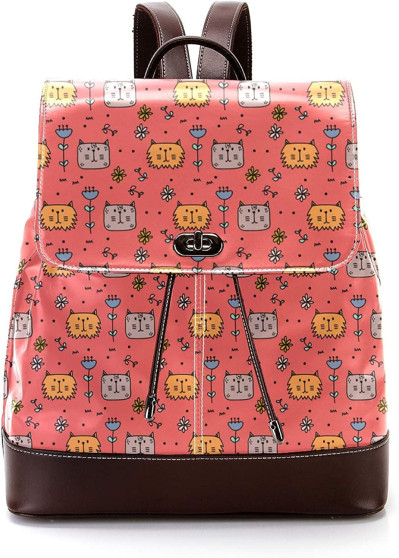 Casual Japan Maker New PU Leather Backpack Sale for Women's Student Men Shoulder Bag