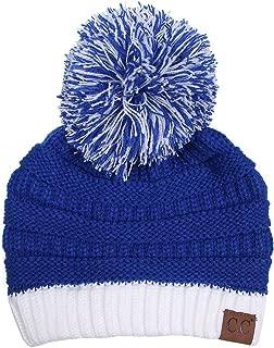 Exclusive University College School Team Color Pom Pom Skully Beanie Hat Cap