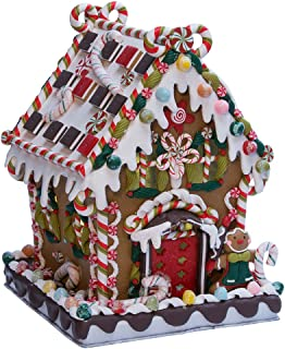 Kurt Adler 8 5/8-Inch Claydough and Metal Candy House with C7 UL Lighted Decorations