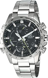 Casio Mens Quartz Watch, Chronograph Display and Stainless Steel Strap EQB-900D-1ADR