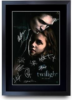 HWC Trading Twilight The Cast Kristen Stewart Robert Pattinson gåvor tryckt affisch signerad autograf bild för filmminnen ...