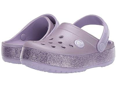 Crocs Kids Crocband Glitter Clog (Toddler/Little Kid/Big Kid) (Lavender) Girl