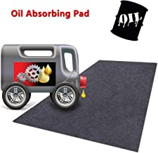 Meitola Cleanable Floor Oil Spill Mat, Oil Absorbing pad Durable Protective Surface Can be Used for car Oil Change (29.6in×36in)