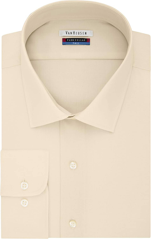 Van Heusen Men's TALL FIT Dress Shirts Flex Collar Solid (Big and Tall)