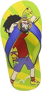 Shiva Boy's Green Flip-Flops-9 Kids (SHPBFF0763)