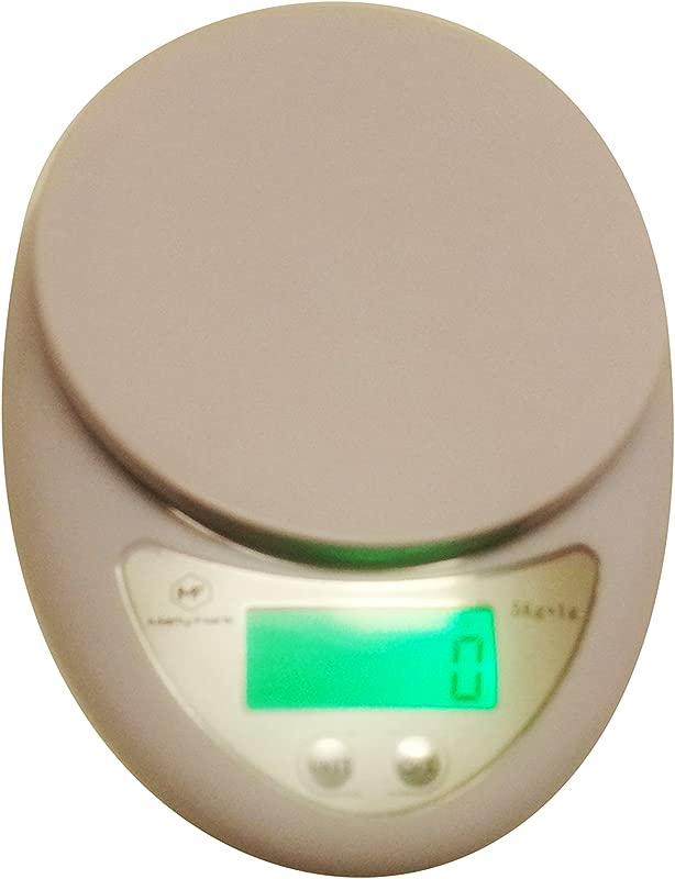 Marty Frank Naturals 11lb 5kg Digital Multifunction Kitchen Food Bowl Scale Backlight Volume Measurement Supported White