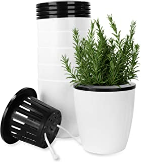 5.1 Inch Self Watering Plastic Planter, Aloptower Modern Decorative Planter Flower Pot for House Plants, Herbs, Aloe, Afri...