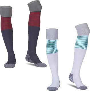AUDTOPEM Men's Compression Knee High Sport Soccer Socks (2 Pack)