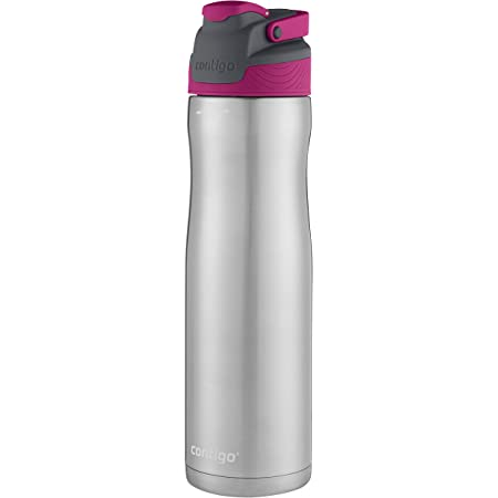 Contigo AUTOSEAL Chill Acero Inoxidable Botella de agua, Very Berry, 709 ml