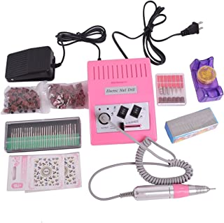 HOUSWEETY 30,000 RPM Advanced Professional Electric Nail Art File Drill Macine Manicure Sand Machine Full Kit