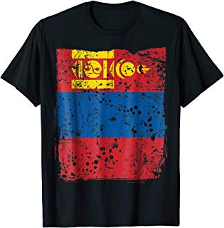 Faded Mongolian Flag, Distressed Flag of Mongolia T-Shirt
