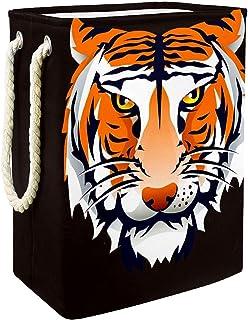 Vockgeng Tête de Tigre de Dessin animé Accueil Organisation Panier de Rangement imperméable Pliable de Jouets de Jouets de...
