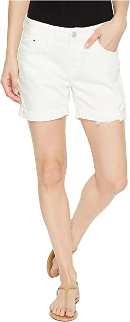 Mavi Jeans - Pixie Boyfriend Shorts in White Ripped Nolita