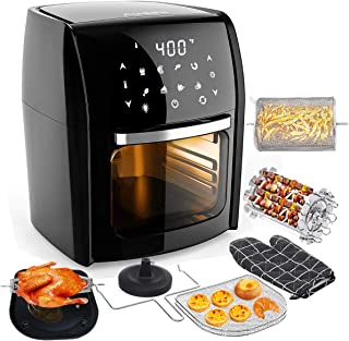 Audew Air Fryer Oven with 12.7Qt Large Capacity, 7-in-1 Multi-Use Digital Air Fryer, 1700W /110V Electric Hot Deep Fryer, Oilless Air Fryer Cooker with Recipe Book - Perfect Christmas Gift Idea
