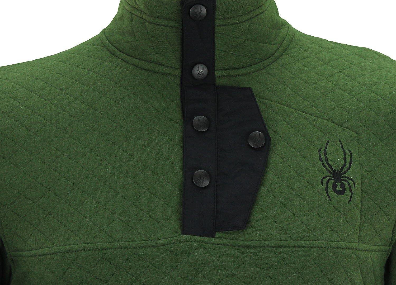 Color Variation Spyder Mens Quilted Pullover Fleece Sweater