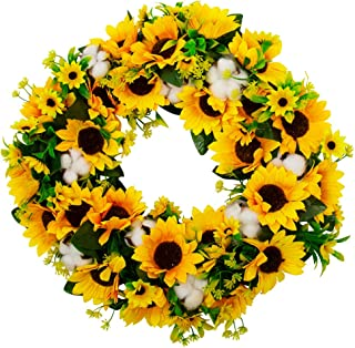Best yellow front door wreath Reviews