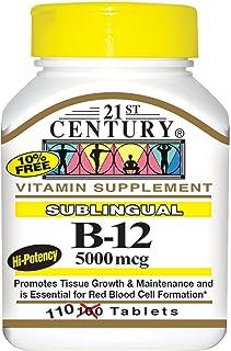 21st Century Health Care, Sublingual B-12, 5000 mcg, 110 Tablets by 21st Century Health Care