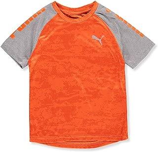 PUMA Little Boys' Performance T-Shirt - Orange, 4