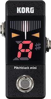 KORG ギター/ベース用 ペダルチューナー Pitchblack mini PB-MINI コンパクト 省スペース ±0.1セントの高精度 カラー表示 ストロボチューニング トゥルーバイパス