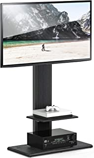 FITUEYES Universal tv Stand with Swivel Mount Height Adjustable 32inch to 65inch TV,TT207503MB