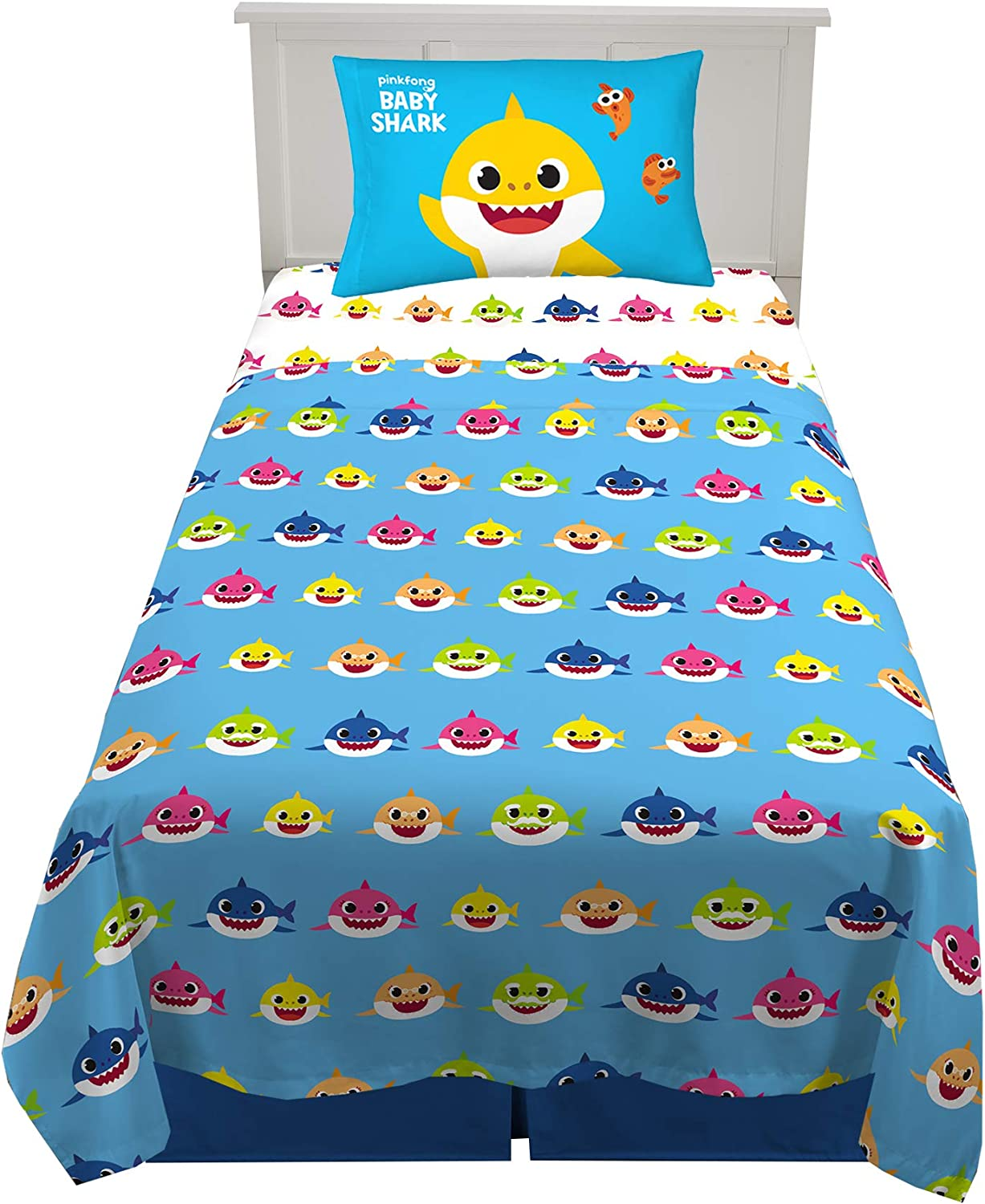 Super Soft Baby Shark Kids Bed Sheet