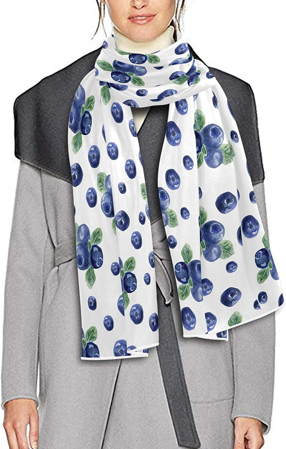 Scarf for Women and Men Fruits Blueberry Shawls Blanket Scarf wraps Soft thick Winter Oversized Scarves Lightweight
