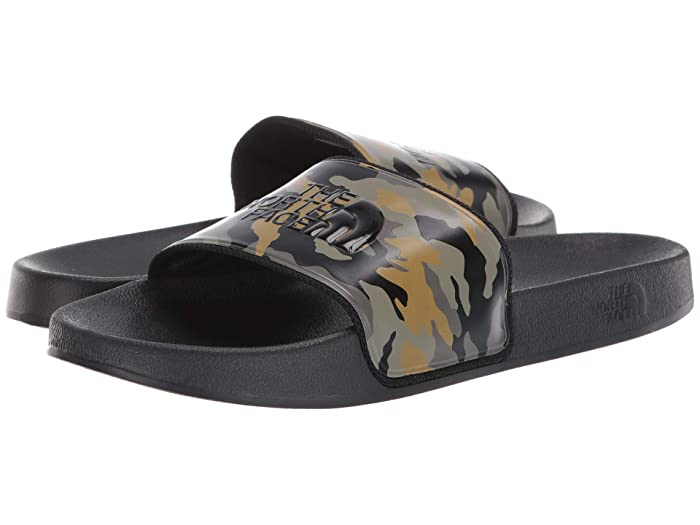 Base Camp Slide II Burnt Olive Green Woodland Camo Print/TNF Black