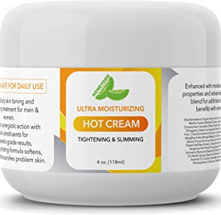 Hot Cream Cellulite Treatment Belly Fat Burner for Women and Men Natural Anti Aging Cream with Antioxidants and Essential Oils Rosemary Lavender Aloe Deep Tissue Massage & Muscle Relaxer