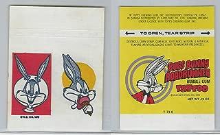 1975 Warner Bros, Bugs Bunny Roadrunner Tattoo, A10 Ice Cream Cone, ZQL