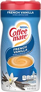 Nestle Coffee mate Coffee Creamer, French Vanilla, Powder Creamer, 15 Ounces