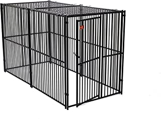 Lucky Dog European Style Modular Kennel with Predator Top, 6 by 5 by 10-Feet
