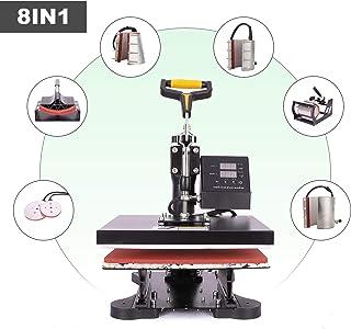 CO-Z 110V Heat Press 360 Degree Swivel 8 in 1 Heat Press Machine Multifunction Sublimation Combo T Shirt Press Machine for...