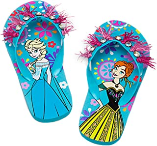 Disney Store - Girls - Frozen Anna and Elsa - Flip Flops Blue