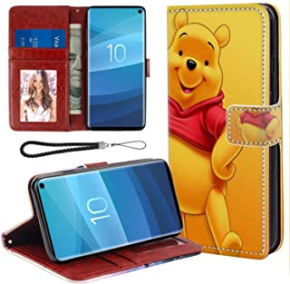 DISNEY COLLECTION Wallet Cover Case Fit for Samsung Galaxy S10 6.1 Version Hd Pooh Bear Wallpaper Bumper