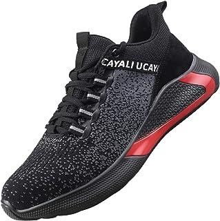 UCAYALI Zapatos de Seguridad Hombre Trabajo Cómodas, Zapatillas de Trabajo con Punta de Acero Ultraligero Transpirables, 3...